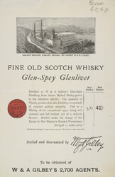 Advert For Glen-Spey Glenlivet Whisky